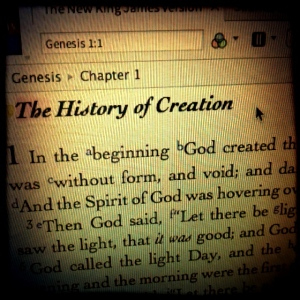 In the beginning God...