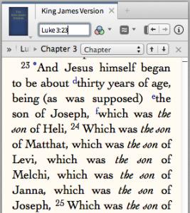 Luke the historian writes the legal line of Christ's genealogy.