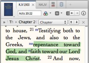 Repentance and faith toward Christ.